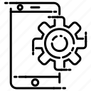gear, phone, setting, smart icon
