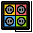building, construction, plug, socket, tool icon