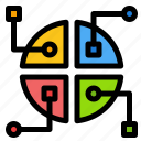 construction, map, network icon