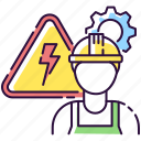 electrical engineer, electrical engineer icon, repairman, technician icon