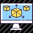 3d rendering, modeling, modeling icon, prototype
