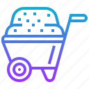 cart, construction, vehicle, wheelbarrow