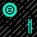 engineer, equipment, instrument, magnetic, plumb icon