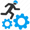 business, employee, gears, job, service, work, working icon