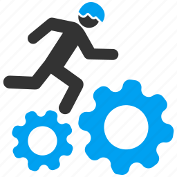 business, employee, gears, job, service, work, working icon