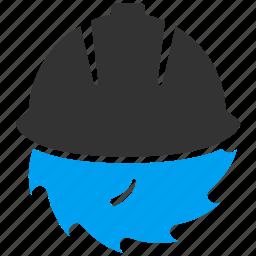 blade, equipment, hat, helmet, safety, sharp, work icon