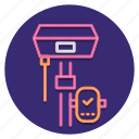 construction, equipment, geodetic, tool icon