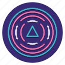 circle, geodetic, triangle icon