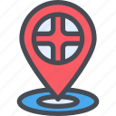 check in, direction, england, location, london, uk icon