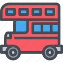 bus, car, england, transport, transportation, vehicle icon