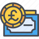 banking, england, exchange, money, payment icon