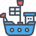 boat, cruise, marine, ocean, ship, travel icon