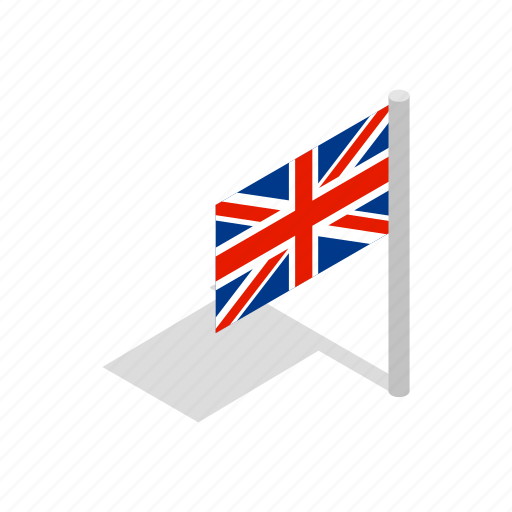 flag, isometric, national, patriotic, patriotism, uk icon