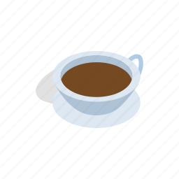 breakfast, cup, drink, hot, isometric, morning, tea icon