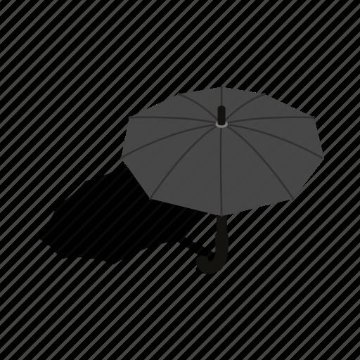design, handle, isometric, meteorology, protection, rain, umbrella icon