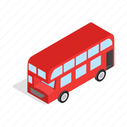 bus, english, isometric, monarchs, red, tourism, travel icon