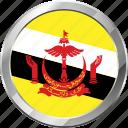 brunei, ensign, flag, nation icon