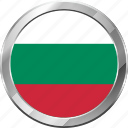 bulgaria, ensign, flag, nation icon
