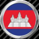 cambodia, ensign, flag, nation icon