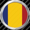 ensign, flag, nation, romania icon