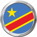democratic rep. of the congo, ensign, flag, nation icon