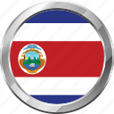 costa rica, ensign, flag, nation icon