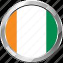 cote d'ivoire, ensign, flag, nation icon