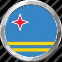 aruba, ensign, flag, nation icon
