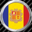 andorra, ensign, flag, nation icon