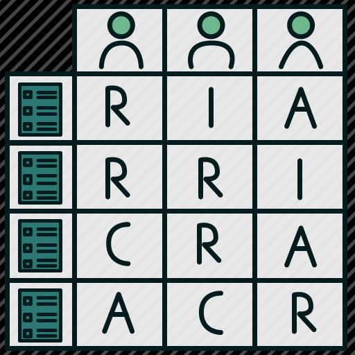 actor, matrix, position, raci, response, role, user icon