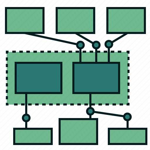 communication, connection, constraints, interaction, interface, network, technology architecture icon