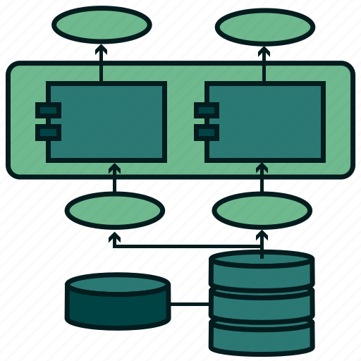 architecture, data, database, network, repository, server, storage icon