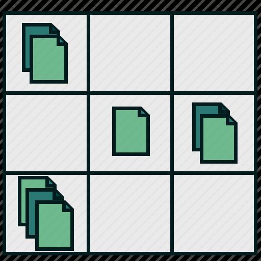 business, data, document, exchange, file, information, matrix icon