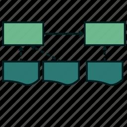 architecture, data, database, diagram, storage, target icon