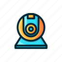 cam camera, entertaiment, expanded, filled, film, video icon
