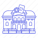 building, casino, entertainment, facility, gambling, games, house icon