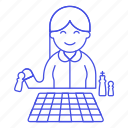 activity, board, chess, elder, entertainment, game, playing, senior, strategy, woman icon