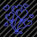 balloon, heart, party, gift, day, entertainment, balloons, decoration, valentine, celebration, s, box