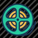 bobbin, cinema, film, movie icon