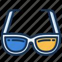 3d glasses, cinema, entertainment, movie icon