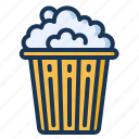 cinema, food, popcorn, snack icon