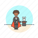 entertainment, hat, magician, man, rabbit, show, trick icon