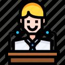 avatar, employee, interface, person, profile, ui, user icon