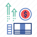 budget, fund, income, interest, investment, profit, stock icon