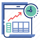 deadline, financial, investment timing, management, money, time, timer icon