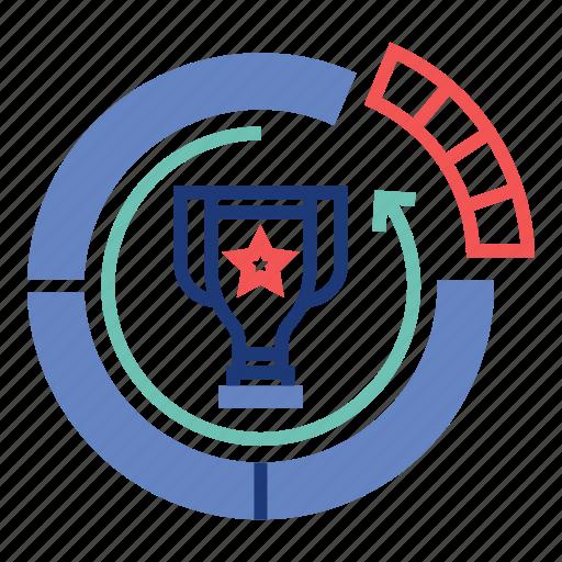 Achievement, diagram, market, marketing, share, success, trophy icon - Download on Iconfinder