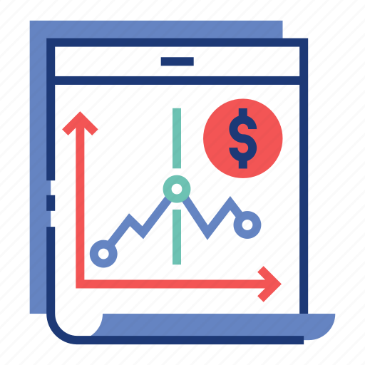 financial, graph, investment, market, profit, stock, trading icon