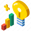 develop, development, expertise, innovation, isometric, knowledge, mastery icon