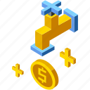 economy, financial, investment, isometric, liquidity, loan, money icon
