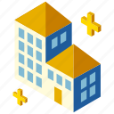 architecture, building, business center, city, isometric, office icon